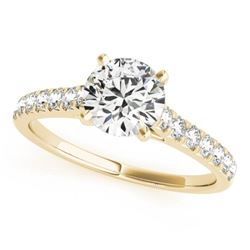 1.45 CTW Certified VS/SI Diamond Solitaire Ring 18K Yellow Gold - REF-374F2N - 27593