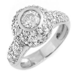 2.20 CTW Certified VS/SI Diamond Ring 18K White Gold - REF-195H3M - 13361