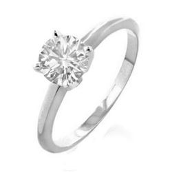2.0 CTW Certified VS/SI Diamond Solitaire Ring 18K White Gold - REF-840K3W - 13542