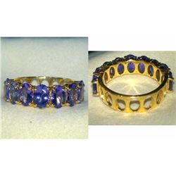 Natural Tanzanite & Solid Gold Ring
