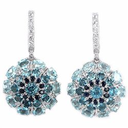 Natural LONDON, SKY BLUE TOPAZ SAPPHIRE Earrings