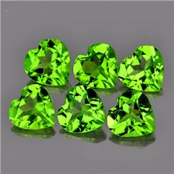 Natural Green Peridot Heart 5 MM - VVS