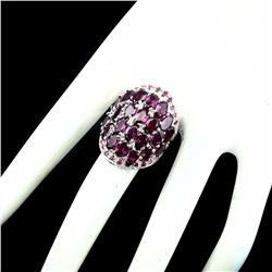 Natural Pink Raspberry Rhodolite Garnet Ruby Ring