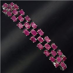 Natural Oval  Ruby 78 Carats Bracelet