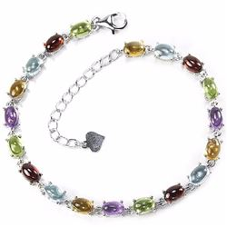 Natural Multi Gemstone 40 Carats Bracelet