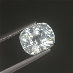 Stunning Natural White Cushion Cut Sapphire 3.08 Carats