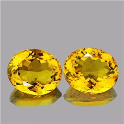 Natural AAA Golden Yellow Citrine Pair 26.17 Ct - FL