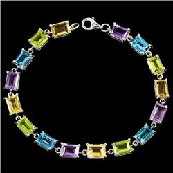 Natural Multi Color - Multi Gemstone Bracelet