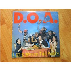 VINYL RECORD - D.O.A. - LET'S WRECK THE PARTY - JTR 8404/1 - OCEAN SOUND VANCOUVER BC - condition -