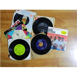 VINYL RECORD - 45 - ASSORTED - 6 TTL - condition - fair