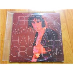 VINYL RECORD - JEFF BECK - WITH THE JAM HAMMER GROUP LIVE - AL 34433 - condition - fair