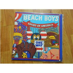 VINYL RECORD - THE BEACH BOYS - SPIRIT OF AMERICA - SVBB 11384- condition - fair