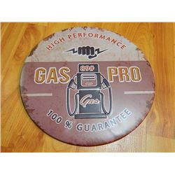 "METAL SIGN - ROUND - 12"" - GAS PRO - HIGH PERFORMANCE"