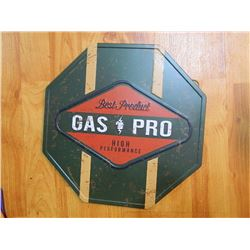 "METAL SIGN - OCTAGON - 12"" - GAS PRO"