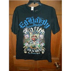 "T-SHIRT - ED HARDY - WITH COLORED JEMS ATTACHED - ""ED HARDY BY CHRISTIAN AUDIGER"" - ""TATOO SHOW LAS"