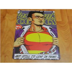 "METAL SIGN - 12 X 8"" - SUPERMAN"