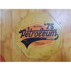 "METAL SIGN - OCTAGON - 12"" - PETROLEUM"