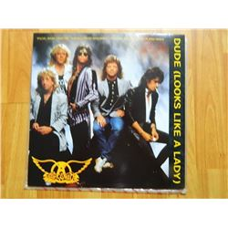 VINYL RECORD - AEROSMITH -DUDE (LOOKS LIKE A LADY) 92-08130 - condition - really good