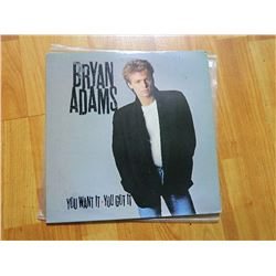 VINYL RECORD - BRYAN ADAMS - YOU WANT IT YOU GOT IT - SP 4864 - condition - sleeve poor - record goo