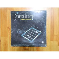 RECORD COVER ONLY - SUPERTRAMP - CRIME OF THE CENTURY - condition poor