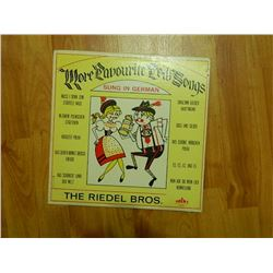 VINYL RECORD - MORE FAVORITE FOLK SONGS - THE RIEDEL BROS. - P 237 - condition poor