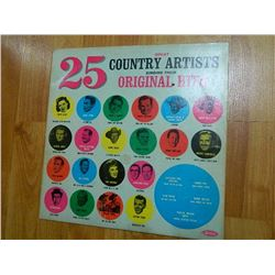 VINYL RECORD - GREAT COUNTRY ARTIST - 25 ORIGINAL HITS - LP 711 - condition fair