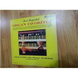 VINYL RECORD - MOST REQUESTED ORGAN FAVORITES - JACK WARD - CAS 779 - condition fair