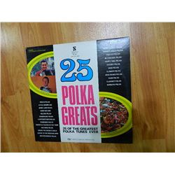 VINYL RECORD - 25 POLKA GREATS - NC 400 - condition poor