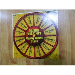VINYL RECORD - COUNTRY MUSIC HITS BY COUNTRY MUSIC STARS - CAL 689 - condition good