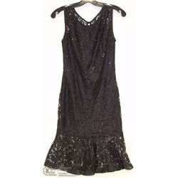 SIZE SMALL SLEEVELESS SEQUENCED LACE DRESS