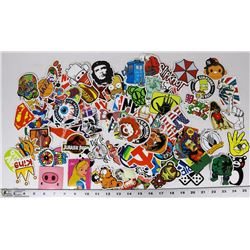 COLLECTION OF 95+ POP CULTURE STICKER DECALS