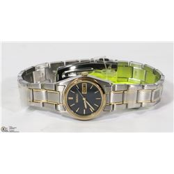 NEW LADIES GOLD TONE AND STAINLESS LADIES WATCH