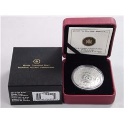 2013 $15 Maple of Peace - Pure Silver Coin.