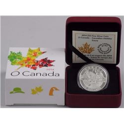 2014 - $10 Canadian Holiday Scene .9999 Fine Silver.