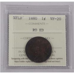 1890 NFLD One Cent. (VF-20) (MR)