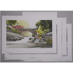 5x Doug Laird Litho's S.N./L.E. Winter and Hometow