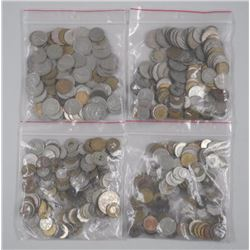 4x World Coin Bags. Mixed.