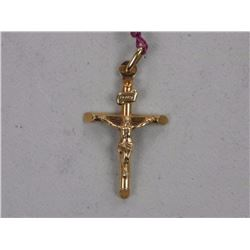 10kt Gold Cross Pendant.