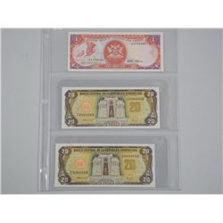 3x Banknotes - (2) Dominion 20 Peso (SEL) and (1x)