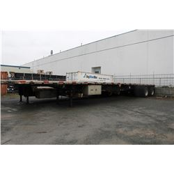 2000 LODE KING 48 FT  FLATDECK COMMERCIAL TRAILER, VIN # 2LDPA4826YC033274, 2 ICBC CLAIMS