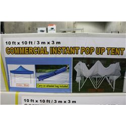 10 FT BY 10 FT INSTANT COMMERCIAL POP UP TENT