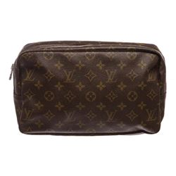 Louis Vuitton Monogram Canvas Leather Toiletry Pouch Bag