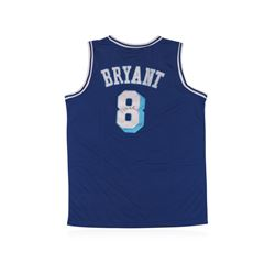 Los Angeles Lakers #8 Kobe Bryant Blue Throwback Autographed Jersey