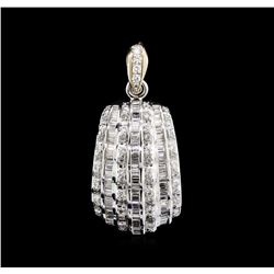1.53 ctw Diamond Pendant - 18KT White Gold