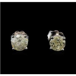 14KT White Gold 1.16 ctw Diamond Stud Earrings