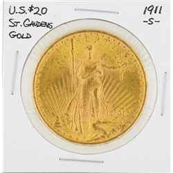 1911-S $20 St. Gaudens Double Eagle Gold Coin