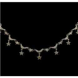 1.22 ctw Diamond Necklace - 14KT White Gold