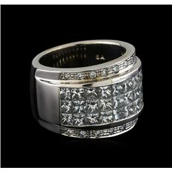 4.35 ctw Diamond Ring - 14KT White Gold
