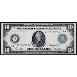1914 $10 Federal Reserve Note Blue Seal Boston