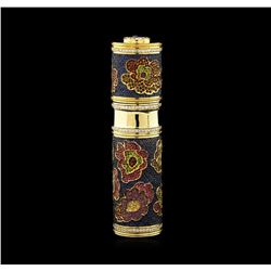 43.15 ctw Sapphire and Ruby Perfume Bottle Holder - 18KT Yellow Gold